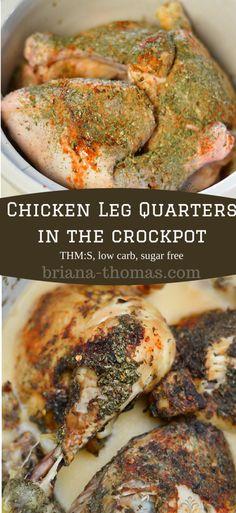 Chicken Leg Quarters in the #Crockpot #THM #S