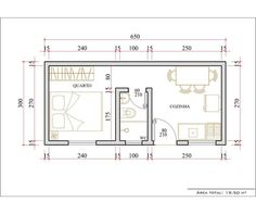 relocate door to wall opposite bathroom, then reposition refrigerator into former door space, now a solid wall. Tiny House Cabin, Small House Plans, House Floor Plans, Studio Apartment Floor Plans, Apartment Plans, Apartment Layout, Apartment Design, Plan Chalet, Flat Plan