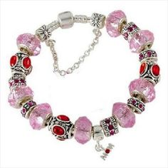 New fashion PINK MOM Silver European Bead Charm Bracelet free shipping Listing in the Other,Charms & Charm Bracelets,Fine Jewellery,Jewellery & Watches Category on eBid Canada