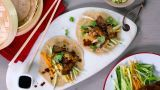 Pekingribbe Med Kinesiske Pannekaker - Oppskrift fra TINE Kjøkken Tapas, Tin, Mexican, Beef, Snacks, Marina Bay, Ethnic Recipes, Singapore, Pictures