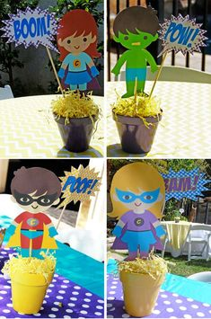 Super Heroes Birthday Party Ideas | Photo 1 of 35 | Catch My Party