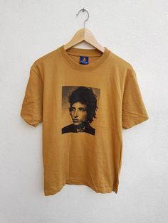 fa560c6d Vintage 90s Bob Dylan Potrait Graphic Printed Music Star Rock n Roll MTV T-Shirt  Size F