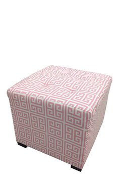 Pink & White Towers Ottoman