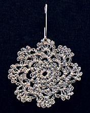 reflective yarn -crochet reflector flower