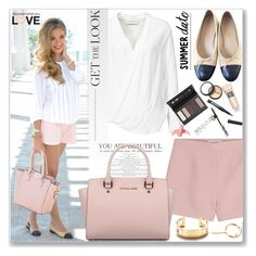 """""""Summer look"""" by jan31 ❤ liked on Polyvore featuring Valentino, Chanel, By Malene Birger, Michael Kors, Tiffany & Co., Borghese and Elizabeth Arden"""