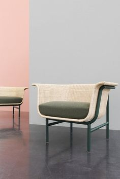 WICKED Armchair and Sofa | Design Alain Gilles for VINCENT SHEPPARD   - Side table coffee tables sofa armchair wicker rattan woven furniture design wood steel outdoor indour