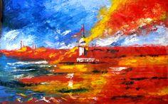 İstanbul - 7 by Mesut Kırmızıgül TÜYB / #Oilpainting 70cm x 50cm 1.400₺ / 400$  #gallerymak #sanat #ressam #modernsanat #istanbul #istanbulbogazi #bosphorus #resim #sultanahmet #cami #yağlıboya #bogazici #contemporaryart #painter #artforsale #exhibition #turkey #ig_sanat #oiloncanvas #paintings #artgallery #contemporaryartcurator #galatakulesi #taksim #atolye #resimatolyesi #oilpainting #tablo #tuval