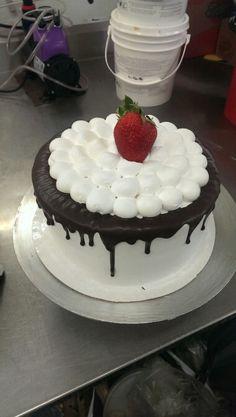 Chocolate cake with chocolate truffle.