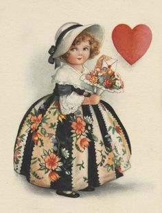 A free beautiful floral Valentine& Day image from the vintage library of Amy Barickman, collector and curator of vintage ephemera. Valentine Images, My Funny Valentine, Vintage Valentine Cards, Vintage Greeting Cards, Vintage Ephemera, Vintage Holiday, Valentine Day Cards, Vintage Easter, Vintage Postcards