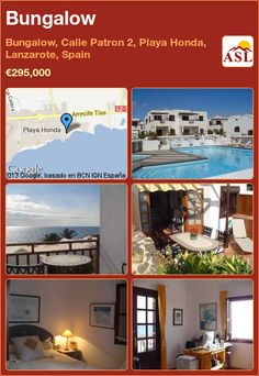 Bungalow in Bungalow, Calle Patron 2, Playa Honda, Lanzarote, Spain ►€295,000 #PropertyForSaleInSpain
