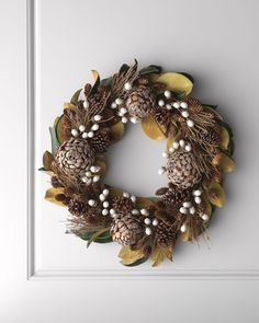 Frosted Pine Cone Wreath