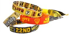 Fabric bands woven with your brand name. Designed to make an impact during events hosted to improve brand awareness.  (scheduled via http://www.tailwindapp.com?utm_source=pinterest&utm_medium=twpin&utm_content=post171970037&utm_campaign=scheduler_attribution)