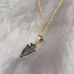 diamond pave necklace by artique boutique | notonthehighstreet.com