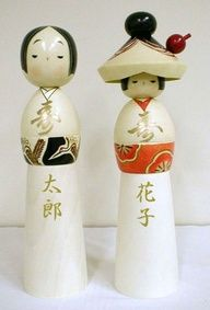 wedding kokeshi  ------ #japan #japanese #kokeshi