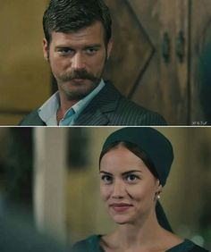 Kurt Seyit (Kivanc Tatlitug) & Fahriye Evcen - Murvet  in the Turkish TV series Kurt Seyit ve Sura 2014. #murka