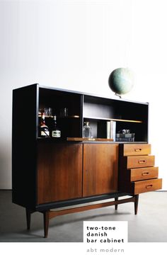 I love a good bar cabinet, you might remember the one I made from an old depression era cabinet. It'sjust...