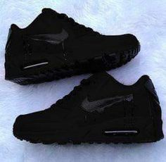 more photos 587fb f8e59 Nike Air Max 90 Custom Source by wassupkicks. All Black ...