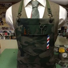 barber apron by sartorandvillain on Etsy: