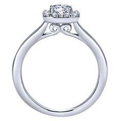 14k White Gold Diamond Halo Engagement Ring | Gabriel & Co NY | ER8262W44JJ