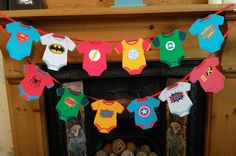Superhero Baby Vest Bunting Banner ~ Baby Shower, 1st Birthday, Avengers, Batman in Home, Furniture & DIY, Celebrations & Occasions, Party Supplies   eBay