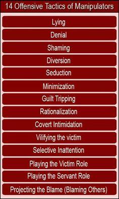 14 Offensive Tactics of Manipulators