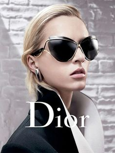 CHRISTIAN DIOR A/W 2013  this to me is a great representation of the Dior brand , the woman in this photo looks sophisticated and fashionable, with emphasis on the structure of the collar