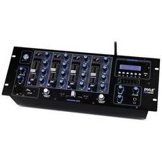 Pyle Pro bluetooth DJ rack mount mixer M119-PYD1962BU