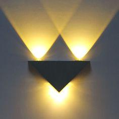 Modern 3 W de alta potência 3 LED Up Down do banheiro lâmpada de parede luz Sconce iluminação arandela de parede atacado(China (Mainland))