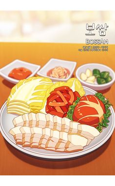 Food Graphic Design, Food Design, Anime Bento, Cute Food Art, Cute Food Drawings, K Food, Food Sketch, Food Cartoon, Food Painting