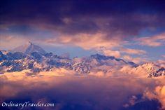 The Himalayas at sunset