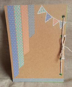 Agenda craft hecha a mano para curso escolar. Handmade. Trasera.