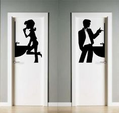 vinilos decorativos para puertas de baño - Buscar con Google
