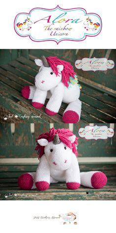 alora-the-unicorn-crochet-pattern, Free crochet pattern, crochet unicorn pattern, alora the crochet unicorn pattern. Crochet Unicorn Pattern Free, Crochet Unicorn Hat, Crotchet Patterns, Crochet Stitches Patterns, Free Pattern, Hat Patterns, Knitting Patterns, Crochet Scarf Easy, Cute Crochet