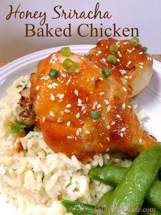 The perfect combination of sweet a& heat. This baked honey siracha chicken recipe will please many pallets.