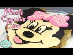 Minnie Mouse Cupcake Cake, Minnie Mouse First Birthday, Mickey Cakes, Cupcake Cakes, Mickey Birthday, 13th Birthday, Cupcake Ideas, Cup Cakes, Hello Kitty Cupcakes
