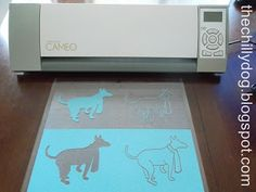 The Chilly Dog: Using the Trace Feature on your Silhouette Cameo