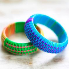 DIY - How to replicate Marc Jacobs designer bangles Plastic Lace Crafts, Bracelet Making, Jewelry Making, Jewelry Crafts, Handmade Jewelry, Jewelry Art, Marc Jacobs Designer, Simple Summer Dresses, Do It Yourself Jewelry