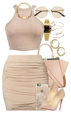 """""""Untitled #1433"""" by power-beauty ❤ liked on Polyvore featuring Fendi, Casio, by TI MO, Casetify, ASOS, The Row and Christian Louboutin"""