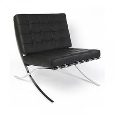 Mies van der Rohe Inspired Barcelona Armchair - Black The classic and iconic. _~SD
