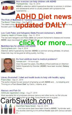ADHD Diet for kids adhd diet recipes plan ♥ targeted low carb or no carb Recipes, Infographics & DAILY nutritional science news updates to help ♥♥ DAILY ADHD Diet news updates at http://carbswitch.com/2014/09/23/adhd-diet-kids-adhd-diet-recipes-plan/ #carbswitch Please Repin ►♥◄