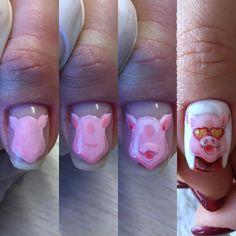 роки и МК auf Instagra Pig Nail Art, Pig Nails, Beauty Nails, Hair Beauty, Nail Art Designs, Fun, Nailart, Russia, Piglets