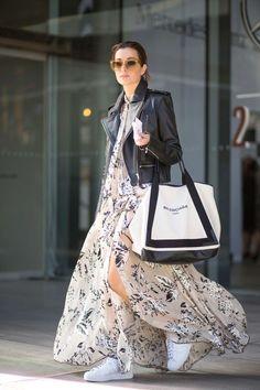 Balman #street style# long dress#