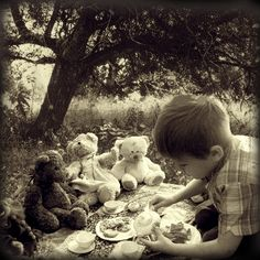 Oh, a teddy bear picnic... YES, even boys love to do this!!!