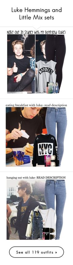 """""""Luke Hemmings and Little Mix sets"""" by claire-xxc ❤ liked on Polyvore featuring Pieces, Ksubi, Vans, Bobbi Brown Cosmetics, Converse, Maybelline, Miss Selfridge, Samsung, Versus and River Island"""