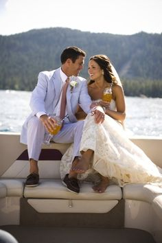 Boat pic Yacht Wedding, Nautical Wedding, Dream Wedding, Cruise Wedding, Lakeside Wedding, Whimsical Wedding, Wedding Suits, Wedding Consultant, Lake Tahoe Weddings