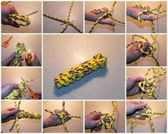 Here's a wonderful picture tutorial for a Dog Chew Toy made of paracord!! Paracord's strength and durability is perfect for a chew toy. (Image from Dianne Knobloch)