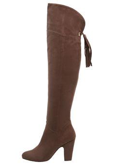 Anna Field Overknee laarzen dark brown, 59.95, http://kledingwinkel.nl/shop/dames/anna-field-overknee-laarzen-dark-brown/
