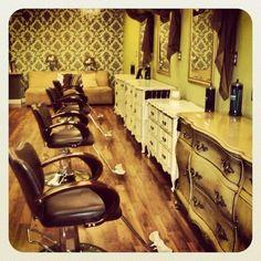 The beautiful salon