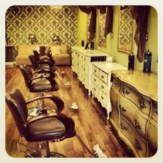 The beautiful salon is when the women get their hair laid down for things such as wedding and funerals