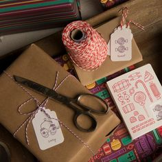 letterpress gift tags and gift wrap Paper Crafts :: Paper Crave